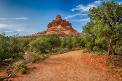 The path to Bell Rock. Bell Rock next to Sedona, Arizona Royalty Free Stock Images
