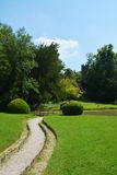 Path to the Belvedere castle in Mirano, Italy Royalty Free Stock Photo