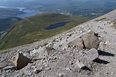 Path to the Ben Nevis summit Royalty Free Stock Photos