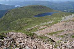 Path to the Ben Nevis summit Royalty Free Stock Photo