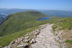 Path to the Ben Nevis summit Stock Photo