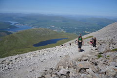 Path to the Ben Nevis summit Stock Images