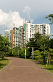 An path to building. A path of modern community,Canton,China Royalty Free Stock Photos
