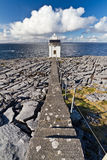 Path to Burren Lighthouse. Burren Lighthouse in Co.Clare, Ireland Royalty Free Stock Photos
