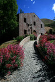 Path to Cellar Door, Winery,NZ. Path up to cellar door in Queenstown, New Zealand Stock Photo