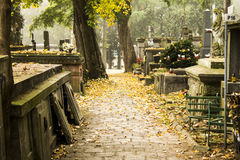 The path to the cemetery Royalty Free Stock Images