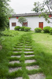 Path to Chinese Hakka house Royalty Free Stock Image