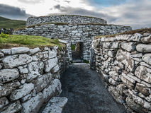 Path to Clickimin Broch, Lerwick, Shetland Royalty Free Stock Images