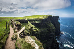 Path to the cliffs Royalty Free Stock Images