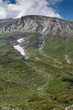 Path to climbing a Vihren Peak, Pirin Mountain Royalty Free Stock Image