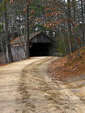 Path to Covered Bridge Royalty Free Stock Photography