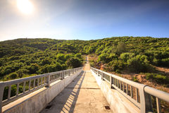 Path to Dai Lanh lighthouse Royalty Free Stock Photography