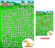 The path to the dog house - maze for kids Royalty Free Stock Photography