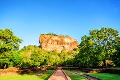 Sigiriya rock in Sri Lanka Royalty Free Stock Photo