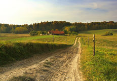 Path to farm Royalty Free Stock Images