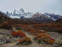 The Path to Fitz Roy. In Argentina Autumn Royalty Free Stock Image
