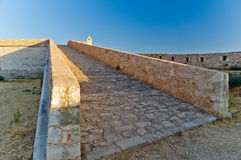 Path to fortress walls, Rethymno, Island of Crete Stock Image