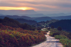 Path to Garrastatxu. Mountain path to Garrastatxu at sunset Royalty Free Stock Photography
