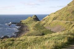 Path to Giants Causeway; County Antrim; Northern Ireland. UK royalty free stock photo
