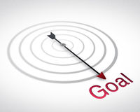 Path to Goal, Compass Royalty Free Stock Image