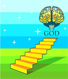 Path to God vector Royalty Free Stock Photography