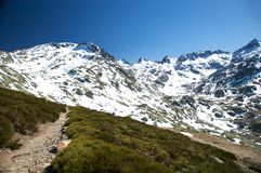 Path to gredos valley Stock Photography