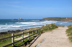The path to Gwithian sands. Stock Image