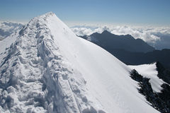 Path to heaven. Snow edge with trite path Stock Image