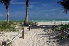 Path to heaven. Miami beach stock photos