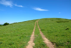 Path to the hill. In summer Stock Photo