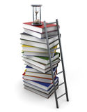 Path to knowledge  on white background. 3d rendering Stock Image