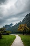 Path to Konigssee lake Royalty Free Stock Images