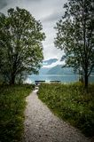 Path to Konigssee lake Royalty Free Stock Image