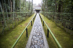 Path to the Koto-in, the sub-temple of Daitoku-ji Royalty Free Stock Image