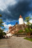 Path to Krivoklat castle gates Royalty Free Stock Photography