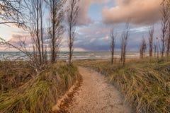 Path to a Lake Huron Beach Stock Photo