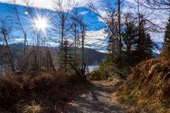 Path to The Lake Lokve royalty free stock photography