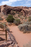 Path to Landscape Arch Royalty Free Stock Photography
