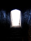 Path to Light. A staircase in an old Indian fort Royalty Free Stock Photography