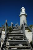 Path to Light. Steps leading up to the lighthouse Stock Images