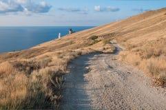 The path to the lighthouse. Autonomous Republic of Crimea Stock Photo