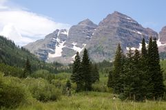 Path to Maroon Bells. Maroon Bells near Aspen, Colorado Royalty Free Stock Images
