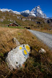 Path to Matterhorn (Monte Cervino) Royalty Free Stock Image