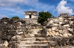 Path to Mayan Buildings Royalty Free Stock Images