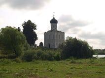 Path to Medieval Church Pokrova-na-Nerli Stock Image