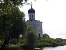 Path to Medieval Church Pokrova-na-Nerli Stock Images