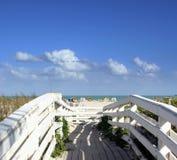 Path to miami beach. Path to heaven stock photo