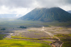 Path to Mount Bromo volcano, East Java, Indonesia Royalty Free Stock Images