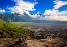 Path to Mount Bromo volcano, Indonesia Royalty Free Stock Image