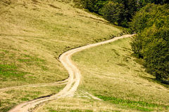 Path to the mountain top Royalty Free Stock Photography